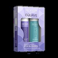 Набор Revlon Equave Шампунь + Кондиционер двухфазный для блондированных волос NEW