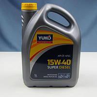Масло моторне YUKO SUPER DIESEL 15W-40 API CF-4/SG (каністра 5л)