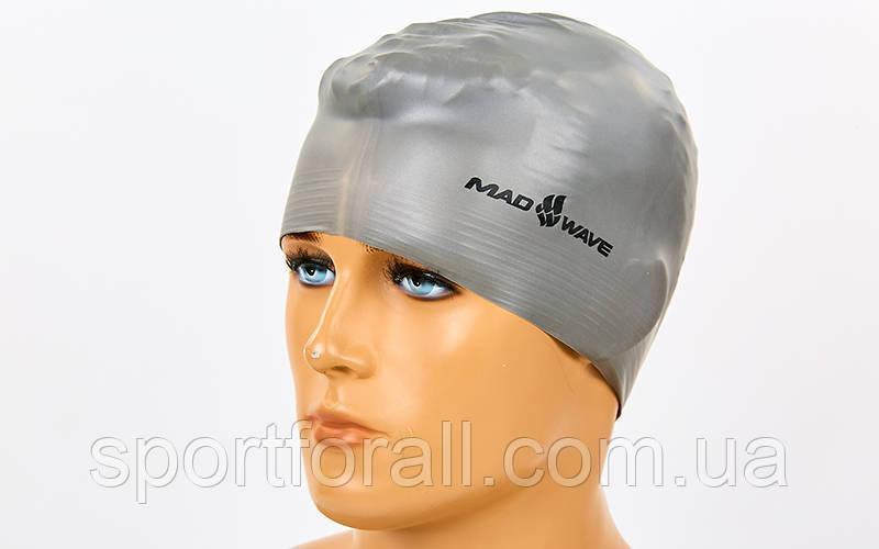 Шапочка для плавання MadWave SOLID (латекс посилений) M056501