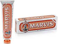 Дезинфицирующая зубная паста без фтора мята и имбирь 85 мл Marvis ginger mint