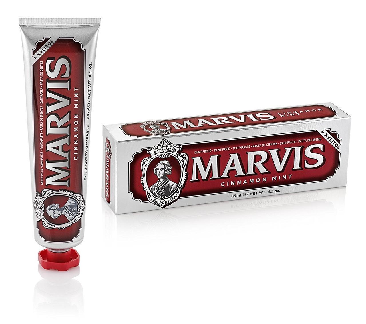 Новая зубная паста мята и корица 85 мл Marvis cinnamon mint