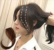 Вставка  прядь волос на заколке втулка (цвета в ассортименте)