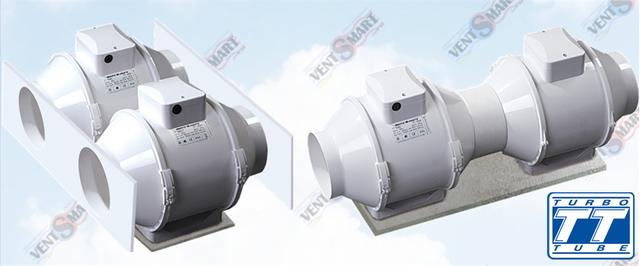 Параллельное и последовательное подключение вентиляторов ВЕНТС ТТ