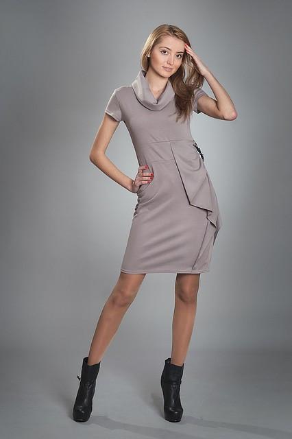 Платье женское мод №87, размеры 44-46,46-48 голубое, черное, т.серое