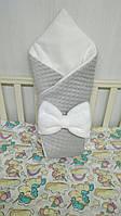 Плюшевый зимний конверт-одеяло для новорожденных  (ДРОПШИППИНГ)