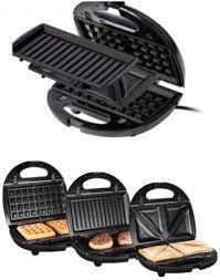 Бутербродница, вафельница, гриль 3в1 SilverCrest SSMW 750 B2