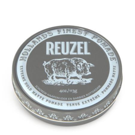 Помада для укладки волос экстра фиксация Reuzel 113 г, Extreme hold matte grey