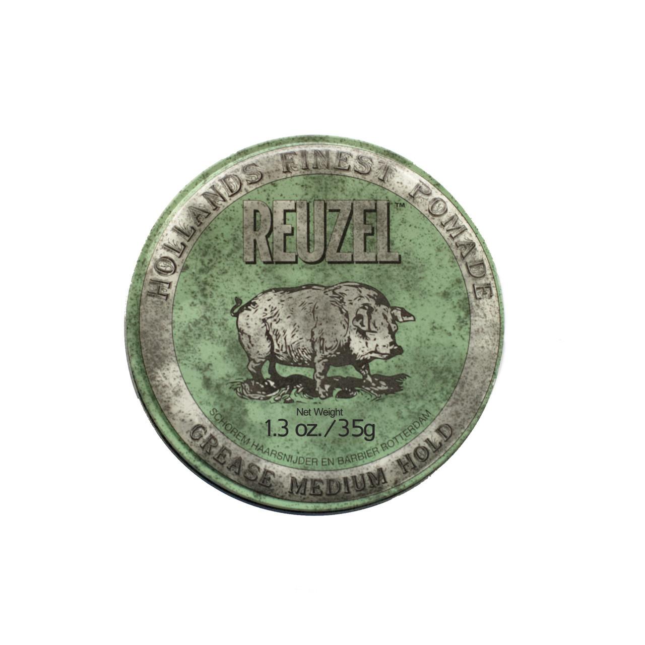 Помада для укладки волос из натуральных компонентов Reuzel 35 г, green grease