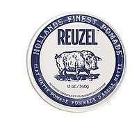Хорошая матовая помада для укладки волос Reuzel 340 г, clay matte blue