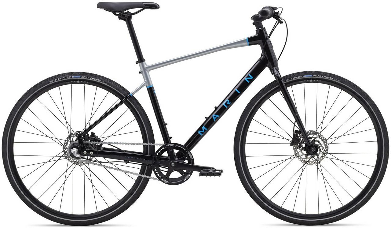 "Велосипед 28"" Marin PRESIDIO 1 (2020) Gloss Black/Charcoal/Cyan"