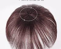 Накладка волос на темья на заколках втулка (цвет горький шоколад ) 20 см, фото 1