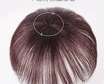 Накладка волос на темья на заколках втулка цвет чёрный  20 см