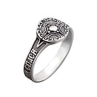 Серебряное кольцо-печатка GS