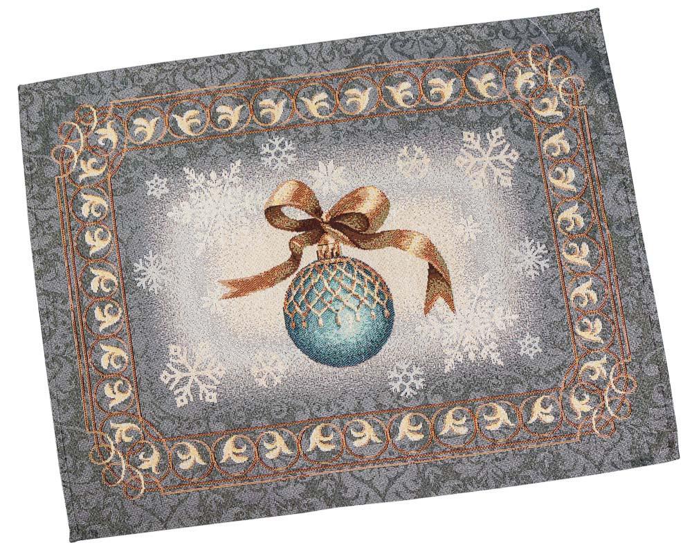 """Салфетка гобеленовая 37х49 """"Ночь перед Рождеством"""" RUNNER333G-49 (золотой люрекс)"""