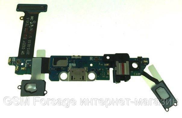 Разъем зарядки Samsung Galaxy S6 G920F complete with flat and headset Original
