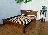 """Двуспальная деревянная кровать от производителя """"Фантазия"""" лесной орех"""
