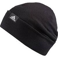 Черная шапка с отворотом Adidas Woolie AB0349