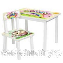 Детский столик со стульчиком Bambi. ДСП. Краски на водной основе. BSM2K-07, фото 2