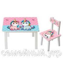 Детский столик со стульчиком Bambi. ДСП. Краски на водной основе. BSM2K-07, фото 3
