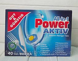Таблетки для посудомоечных машины G&G Power-Aktiv 40 шт.