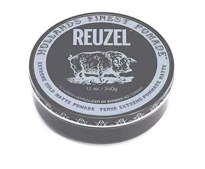 Мужская помада для укладки волос экстра Reuzel 340 г, Extreme hold matte grey
