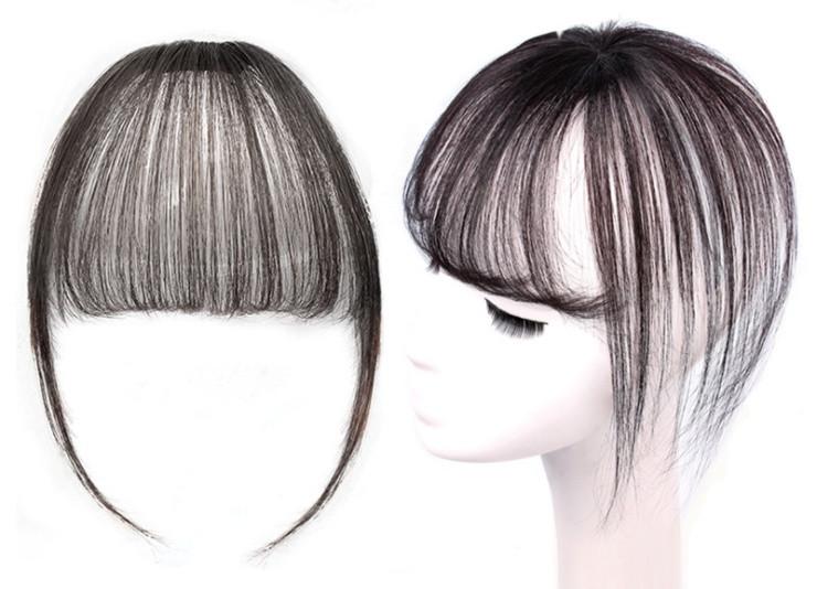 Накладка волосся на темья на заколках втулка (колір чорний/коричнево-каштановий )