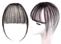 Накладка волосся на темья на заколках втулка (колір чорний/коричнево-каштановий ), фото 1