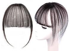 Накладка волос на темья на заколках втулка (цвет чёрный/коричнево-каштановый )
