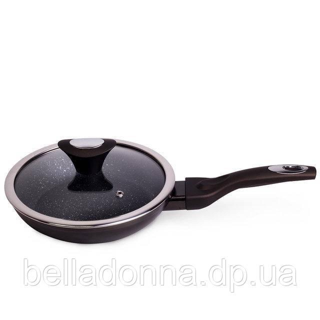 Сковорода універсальна з мармуровим покриттям 24 см Kamille KM-4101