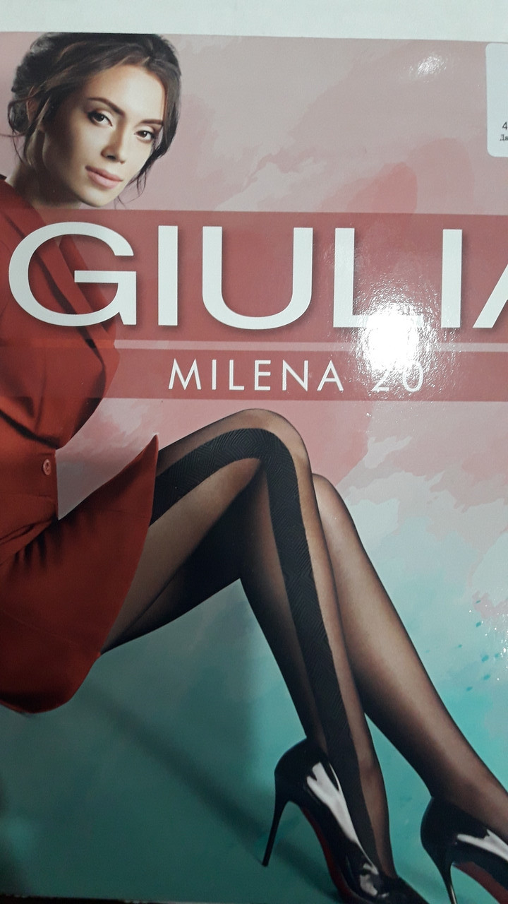 Колготки с боковым узором GIULIA Milena model 2 / 20 Den