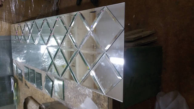 Сборка зеркального панно