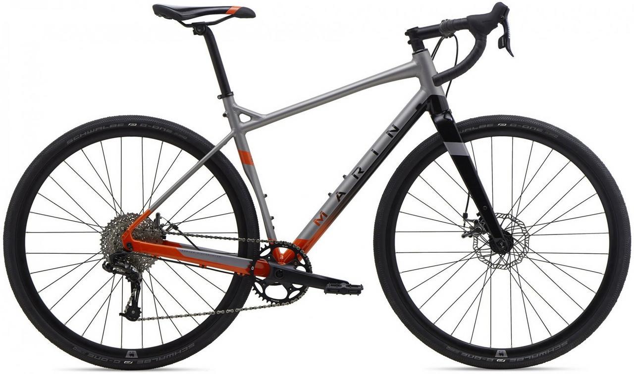 "Велосипед 28"" Marin GESTALT X10 (2020) satin silver/gloss orange"