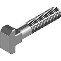 DIN 186 В (ГОСТ 13152-67) : нержавеющий Т-болт с квадратным подголовником