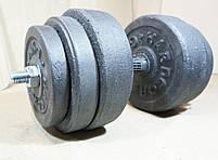 Гантелі 19 кг х2 (25 мм), фото 4
