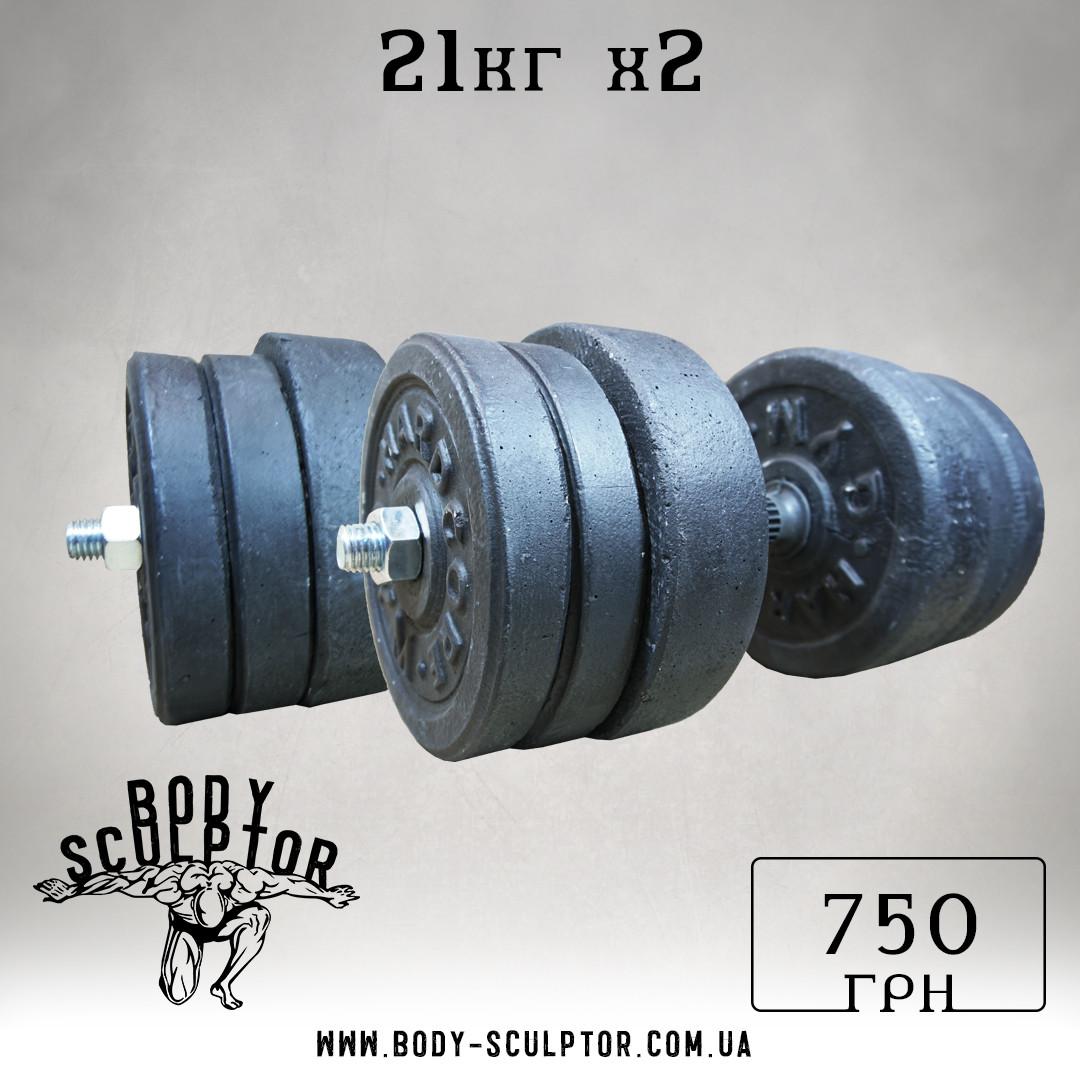 Гантелі 21 кг х2 (25 мм)