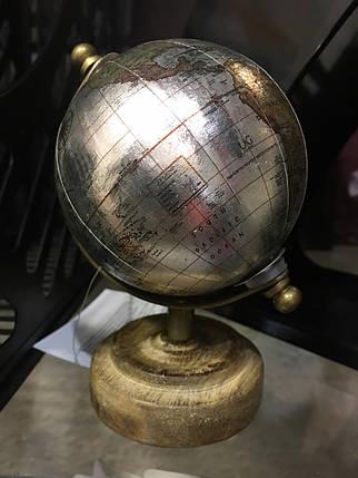 Глобус настольный на деревянной подставке, фото 2