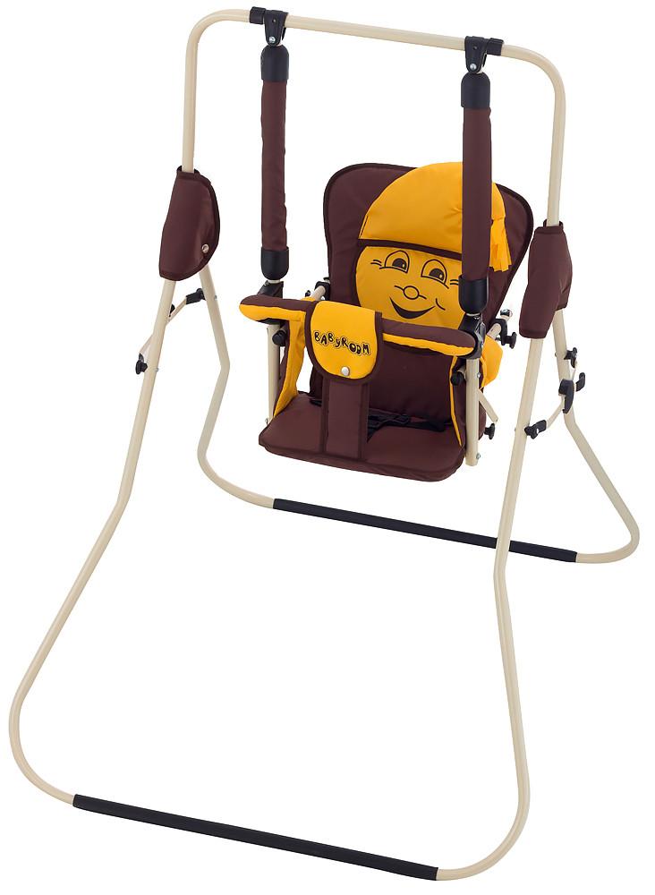 Качель Babyroom Casper  шоколад-желтый