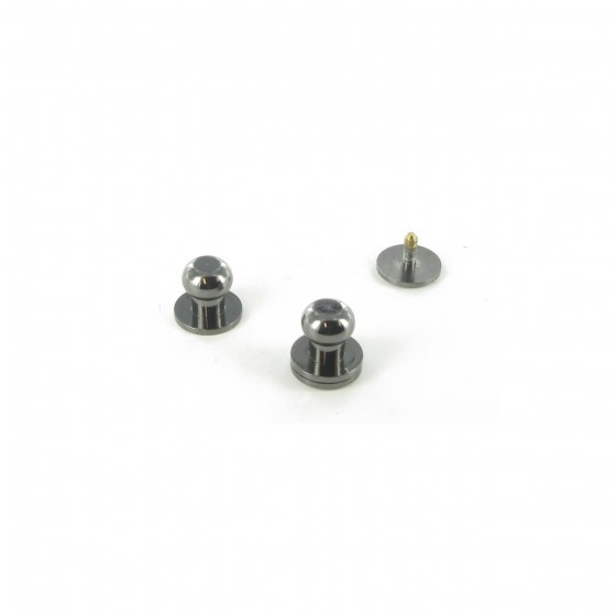 Кобурная кнопка латунная 10 мм Темный никель (СF)