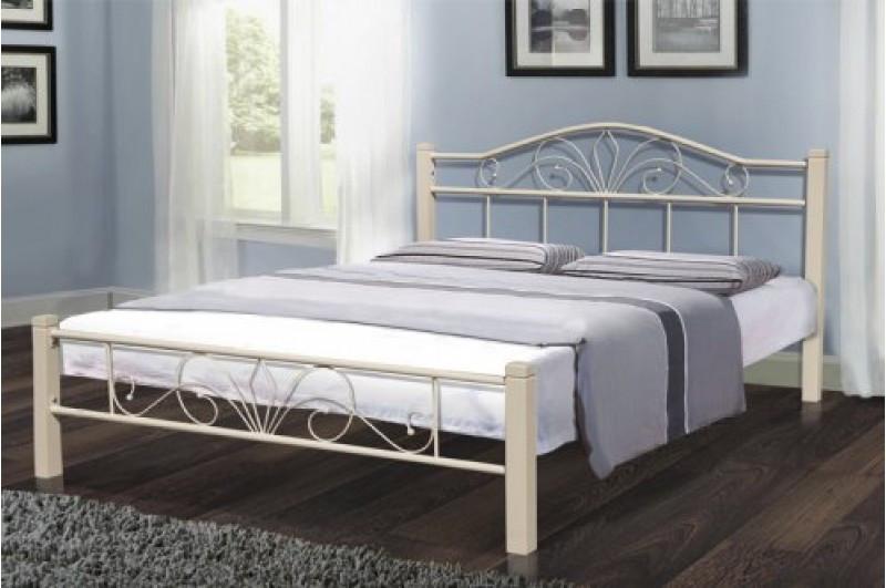 Ліжко металеве Релакс Вуд 1,6 бежева.