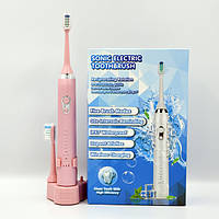 Электрическая зубная щетка Sonic Electric 602 звуковая многофункциональная водостойкая розовая