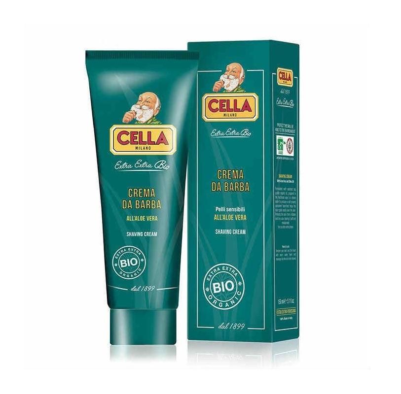 Крем для бритья для мужчин 150 мл,Cella shaving cream Bio, Aloe Vera