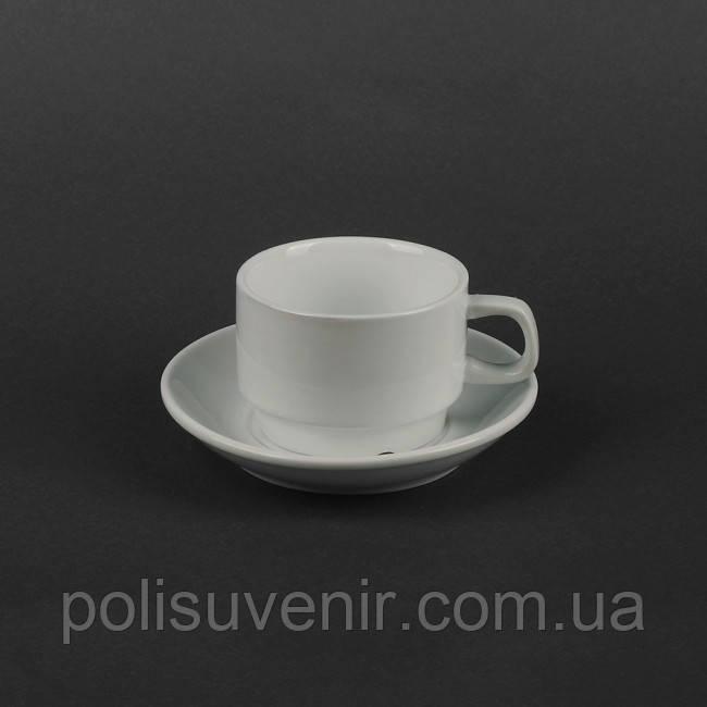 Набір чайний 2 предмета: чашка 200 мл + блюдце