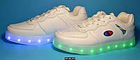 Детские светящиеся кроссовки, USB, 37 размер (23.8 см), 11 режимов LED подсветки, супинатор, 107-93-371