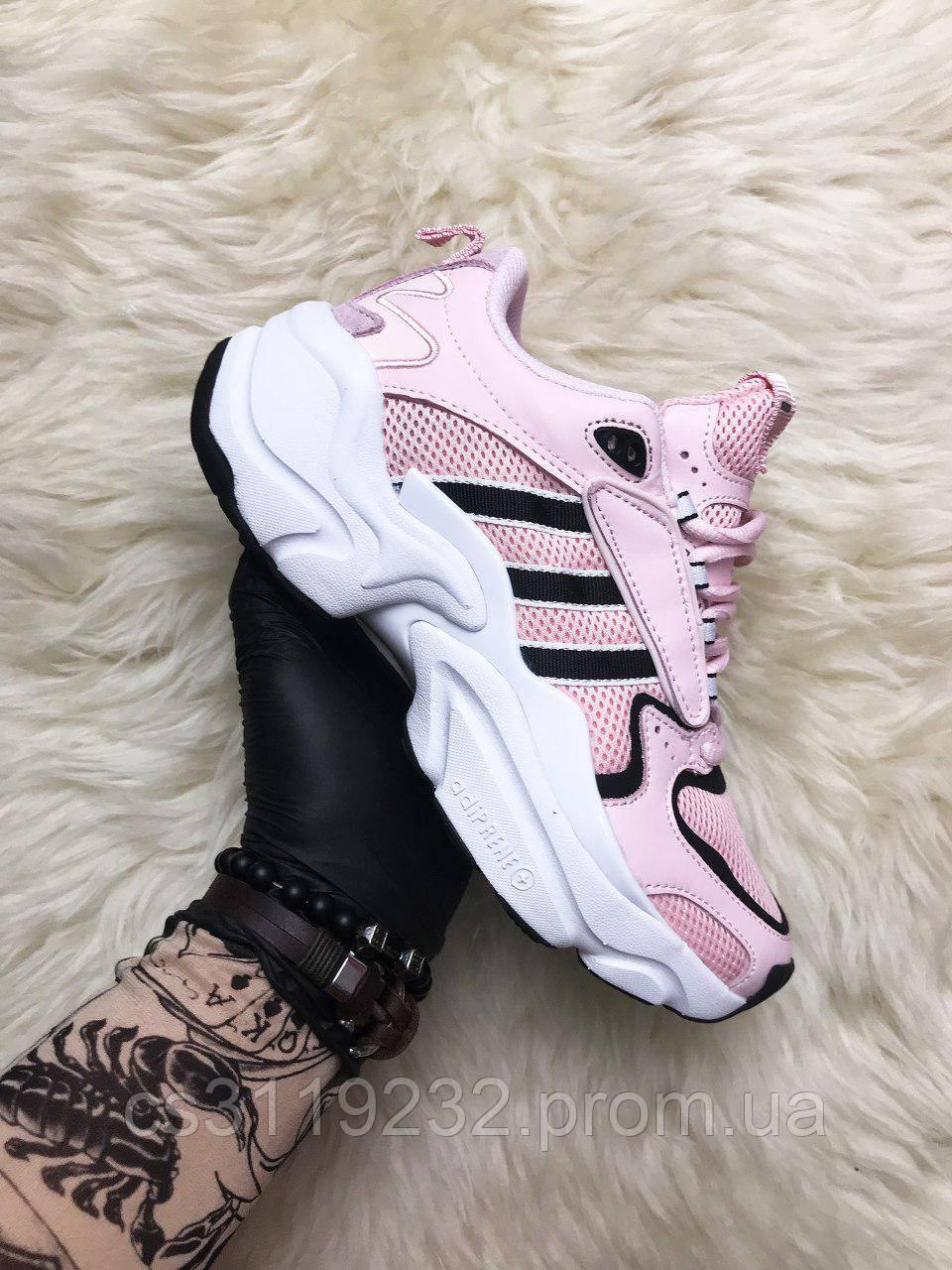 Женские кроссовки Adidas Naked Magmur Runner Pink (розовые)