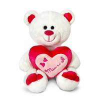 Мягкая игрушка Lava Медведь амурчик с сердцем 18 см