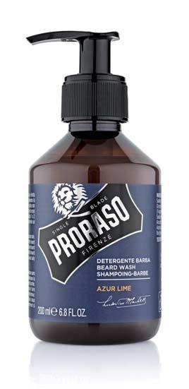 Профессиональный шампунь для бороды Proraso,200 мл Beard Shampoo Azur Laime