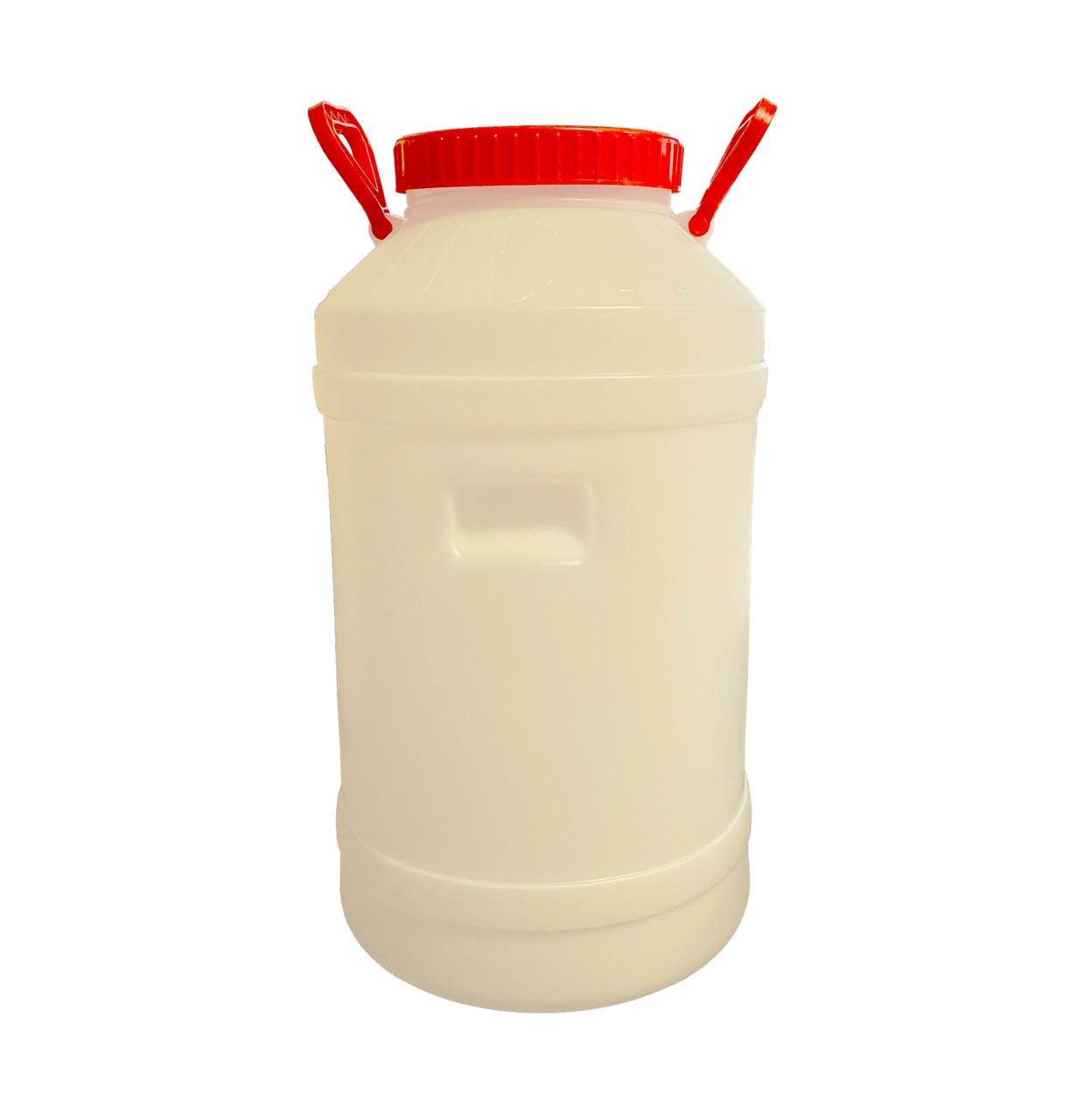 Бідон (бочка) харчовий пластиковий з прокладкою, 60л, Од
