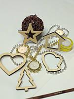 Новогодние игрушки Деревянные украшения Новогодний декор Декор офиса Эко игрушки Декор комнаты Звезда 11 см