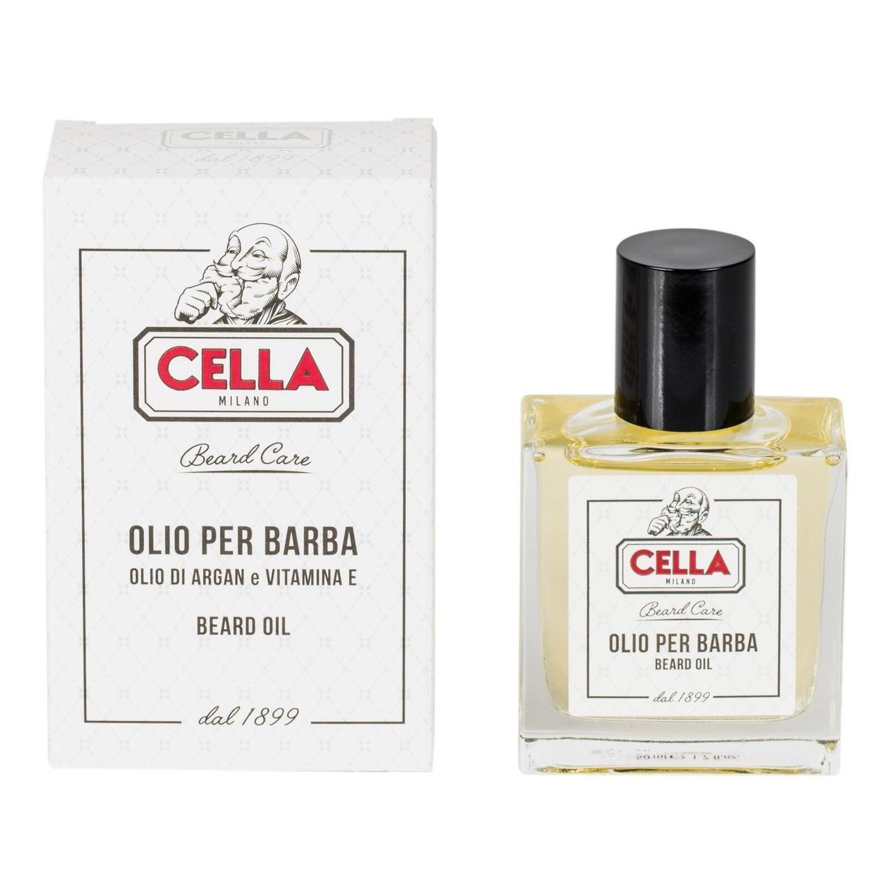 Итальянское масло для ухода за бородой Cella Beard oil, 50 мл