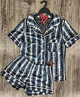 Пижама рубашка и шорты в полоску, велюровые пижамы женские.